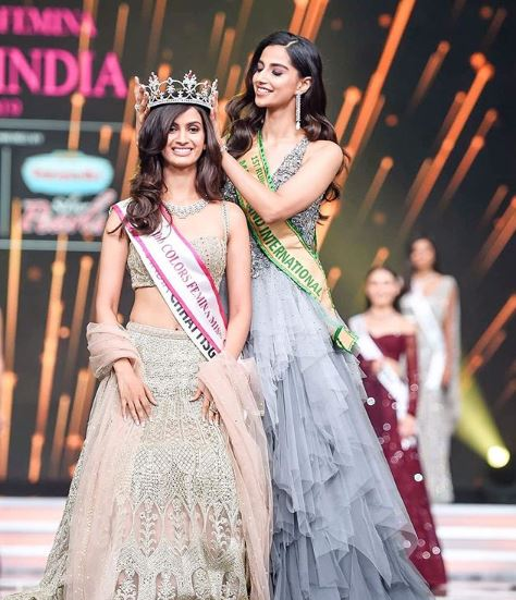 Miss India title in 2019 images